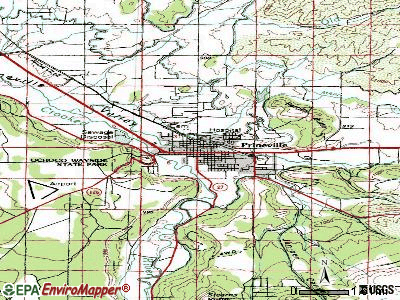 Prineville topographic map