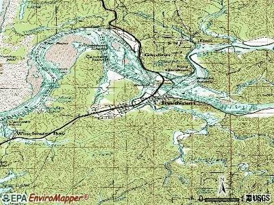 Reedsport topographic map