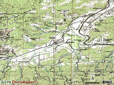 Riddle topographic map