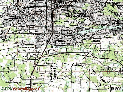 Rivergrove topographic map