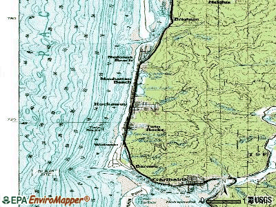 Rockaway Beach topographic map