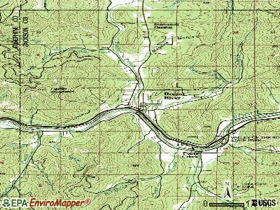 Rogue River topographic map