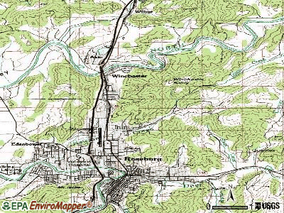 Roseburg North topographic map