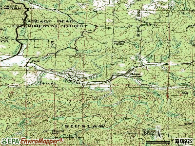 Rose Lodge topographic map