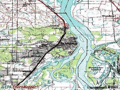 St. Helens topographic map