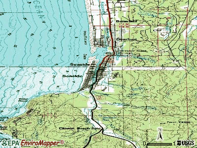 Seaside topographic map