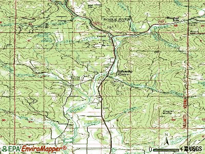Shady Cove topographic map
