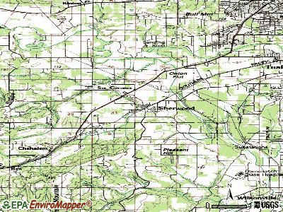 Sherwood topographic map