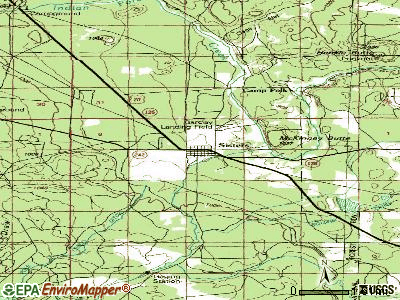 Sisters topographic map