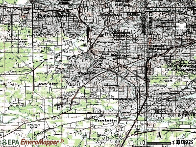 Tigard topographic map