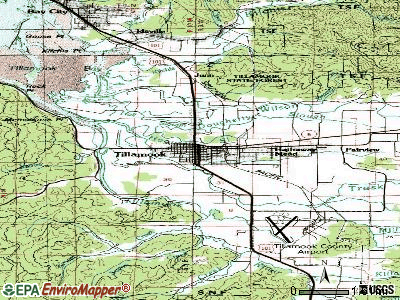 Tillamook topographic map