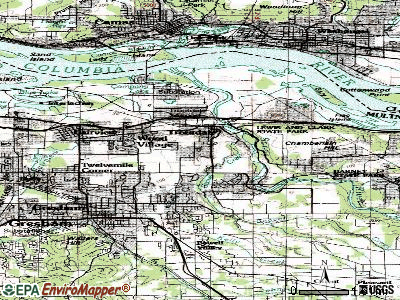 Troutdale topographic map
