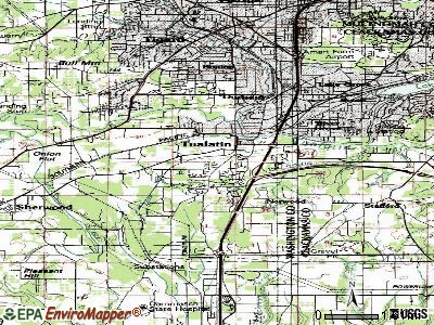 Tualatin topographic map