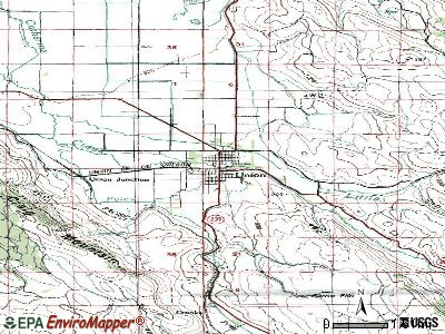 Union topographic map