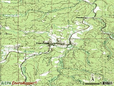 Vernonia topographic map