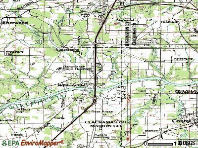Wilsonville topographic map