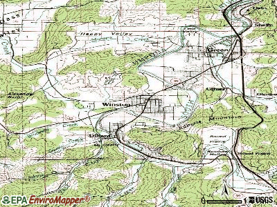 Winston topographic map