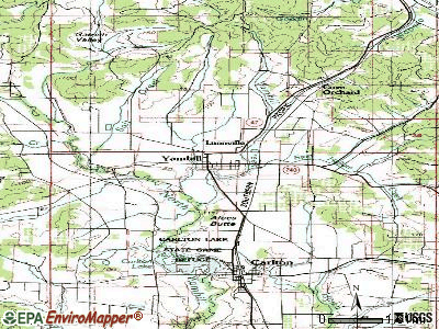 Aaronsburg topographic map