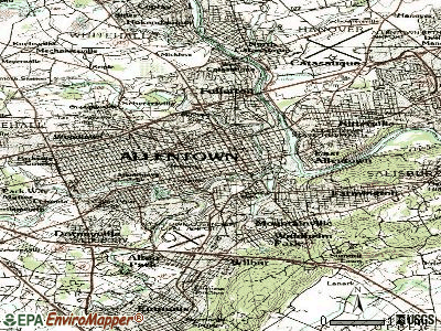 Allentown topographic map