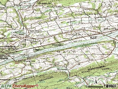 Almedia topographic map