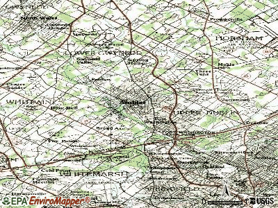 Ambler topographic map
