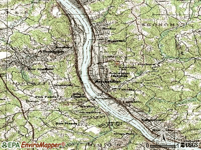 Ambridge topographic map