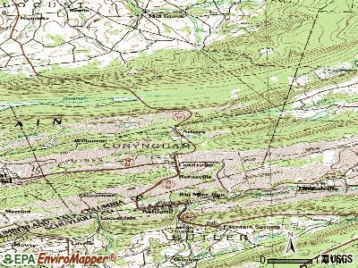Aristes topographic map