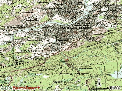 Ashley topographic map