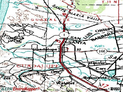 Guadalupe topographic map