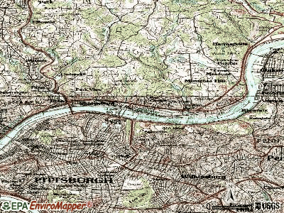 Aspinwall topographic map