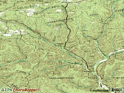Austin topographic map