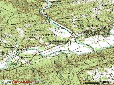 Avis topographic map