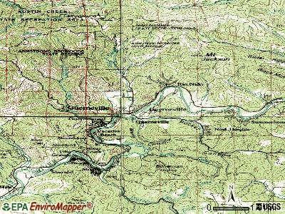 Guerneville topographic map
