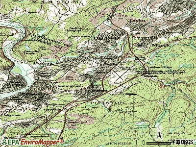 Avoca topographic map