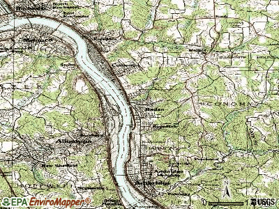 Baden topographic map