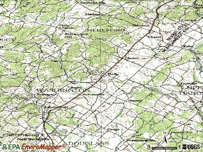 Bally topographic map