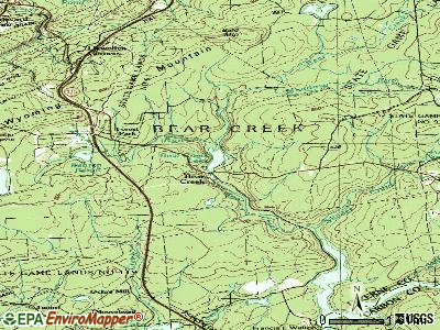 Bear Creek Village topographic map