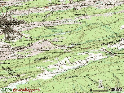 Beaver Meadows topographic map