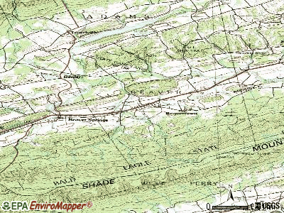 Beavertown topographic map
