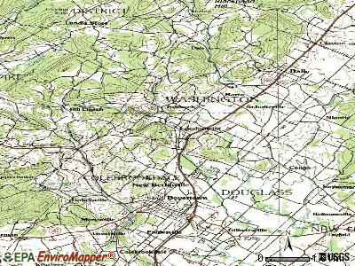Bechtelsville topographic map