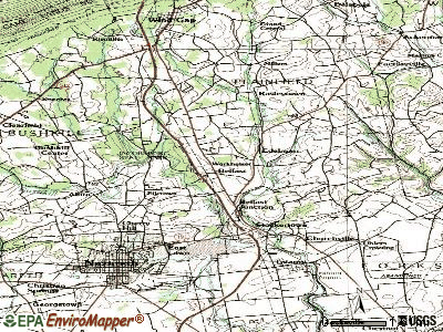 Belfast topographic map