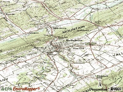 Bellefonte topographic map