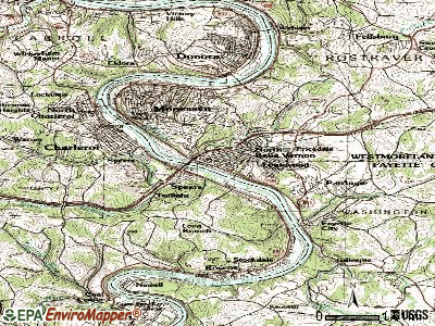 Belle Vernon topographic map