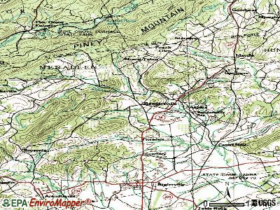 Bendersville topographic map