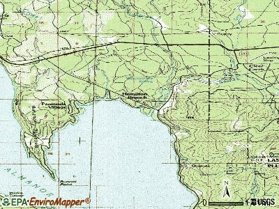 Hamilton Branch topographic map