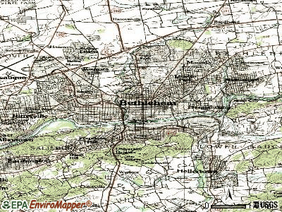 Bethlehem topographic map