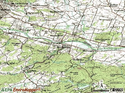 Birdsboro topographic map