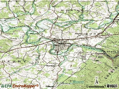Blairsville topographic map