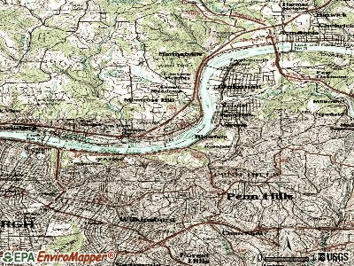 Blawnox topographic map