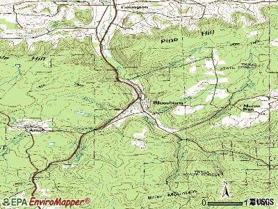 Blossburg topographic map